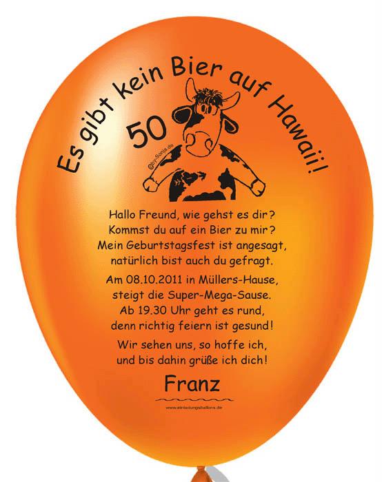 Balloneinladungen Shop: individuelle und originelle Einladungen