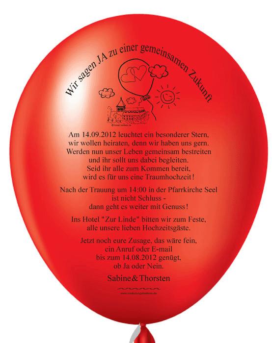 balloneinladungen shop: individuelle und originelle einladungen, Einladungen