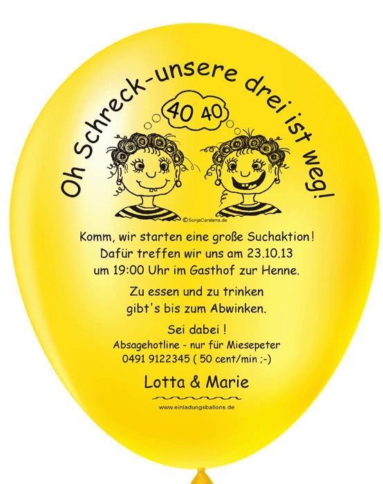 ... Geburtstagseinladung Balloneinladungen Witzige Einladung  Balloneinladung Kreative Einladung Originelle Einladung | Einladungen Zum  Geburtstag ...