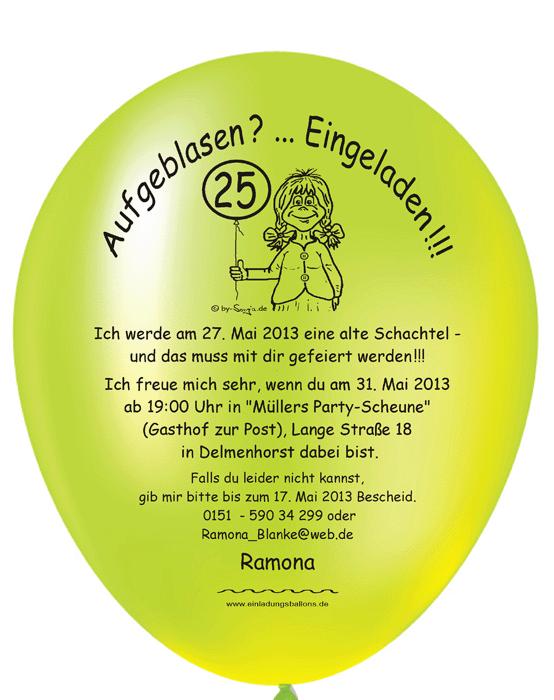 balloneinladungen shop: individuelle und originelle einladungen, Einladung